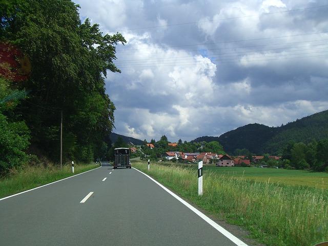 jízda na dovolenou po silnici